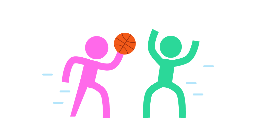 people playing basketball illustration