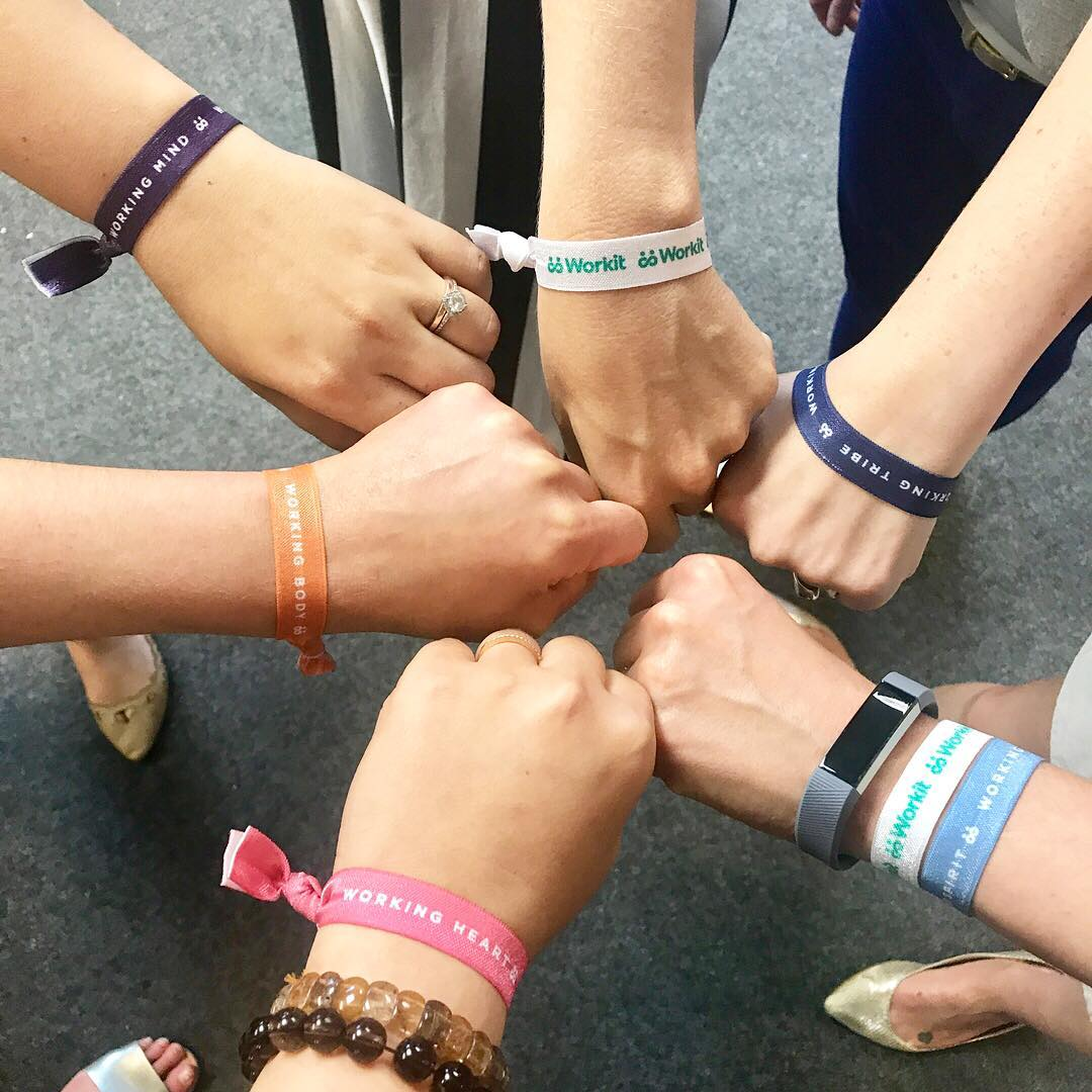 Bracelets for each section of the program.