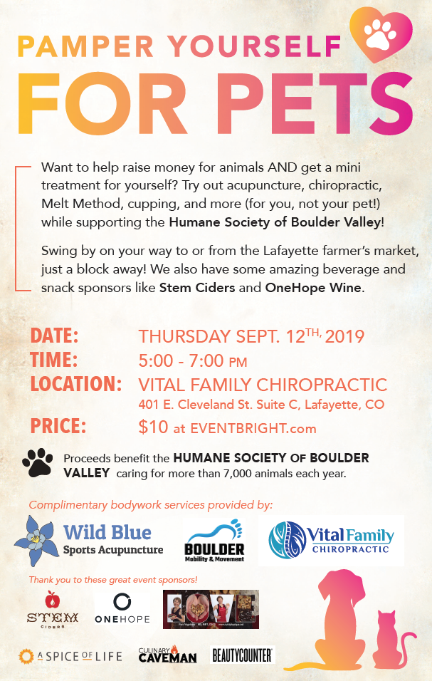Pamper event - Wild Blue Sports Acupuncture