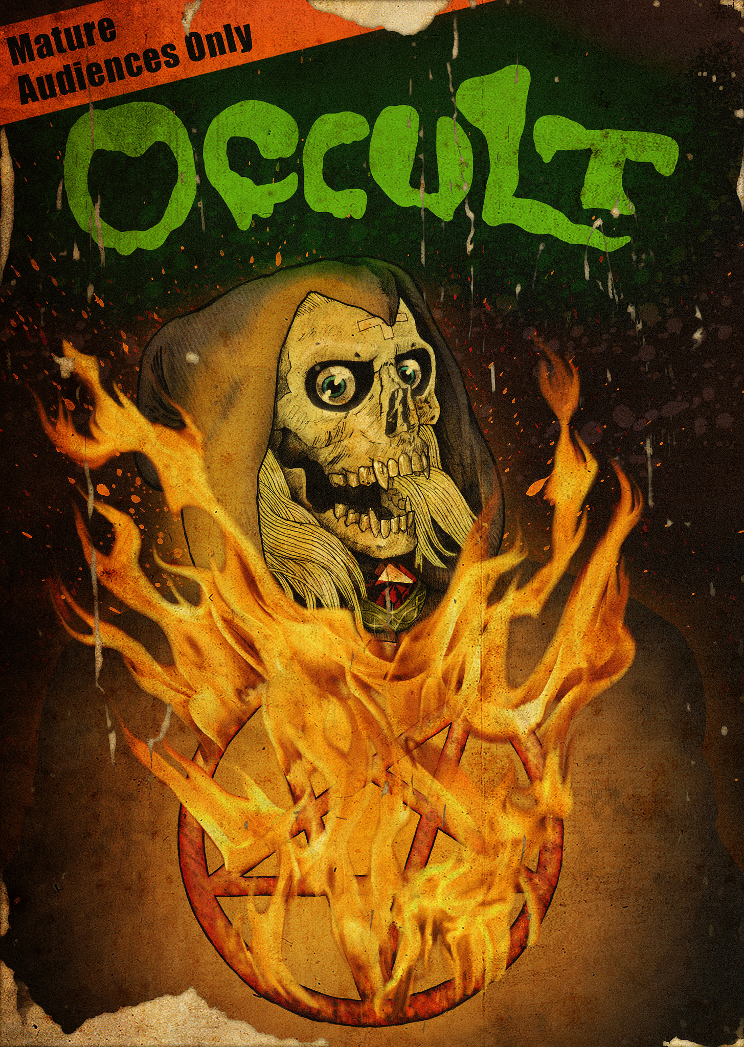 DVD cover for the film  Occult .