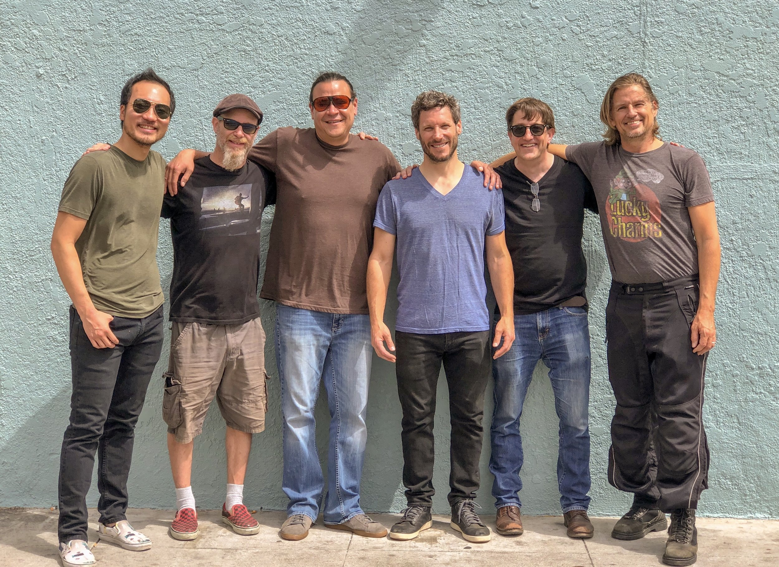 Rich Sheldon Band - Santa Monica Summer Soulstice - 6/22/19 (L to R: Steven Kim, Ben Martin, Mike Sweeney, Rich Sheldon, Doug Haxall, Russell Spurlock) Photo by Deanna Francke