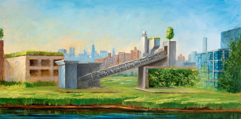Urbanscape VI  18x36