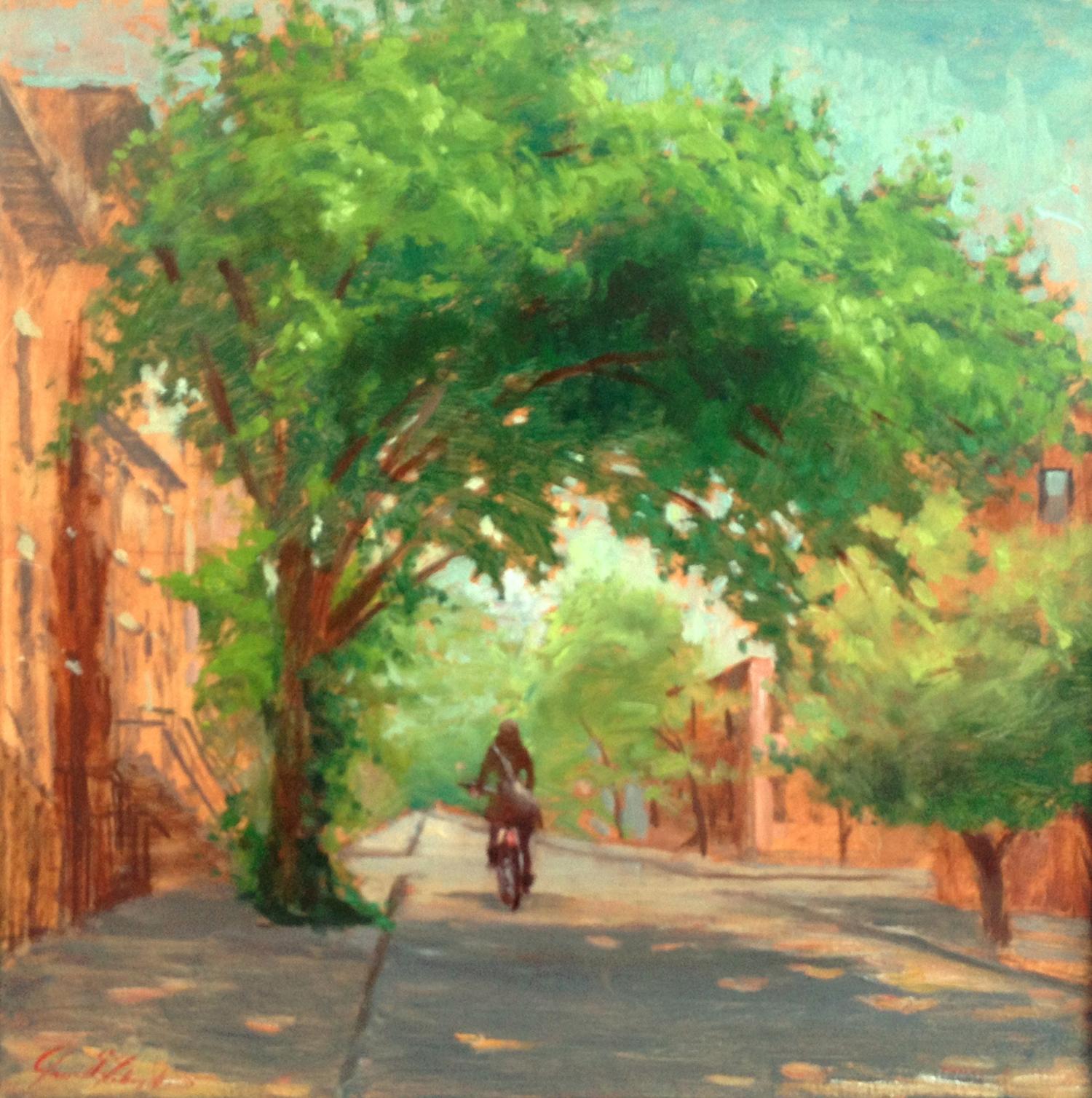 W Callery Pear On 5th Street-Dalrymple-18x18-oil on canvas-2010-SOLD.jpg