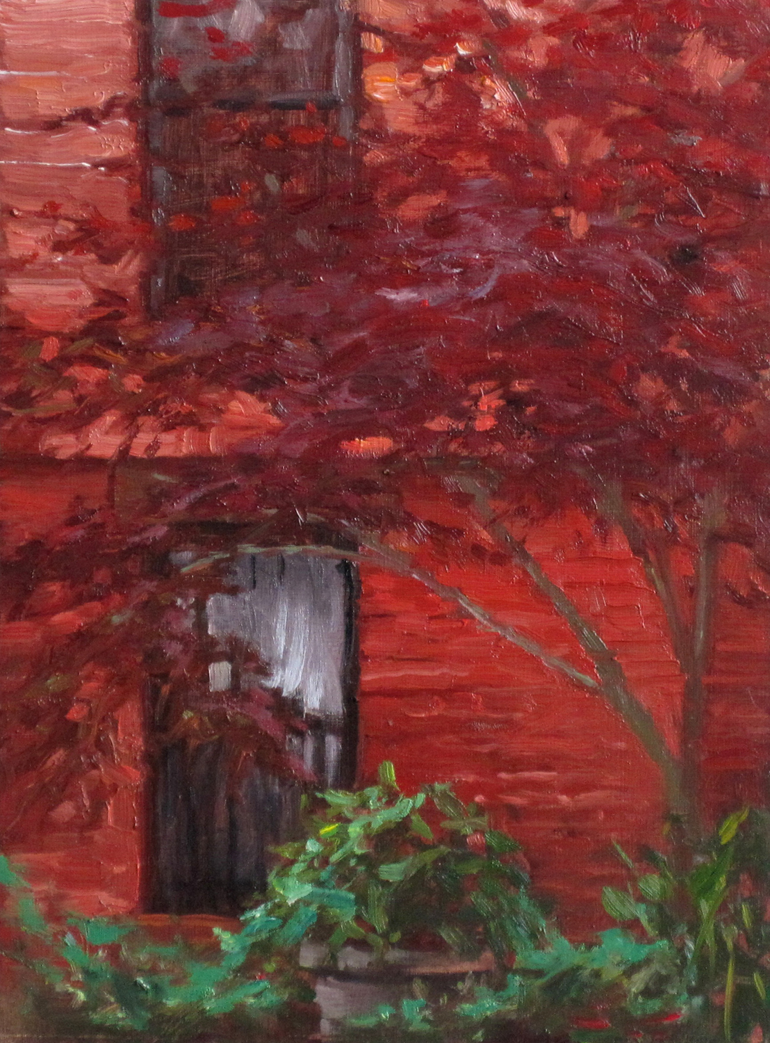 W-NITC-Red Maple Against Red-Dalrymple-9x12-oil on board-2011-SOLD.jpg