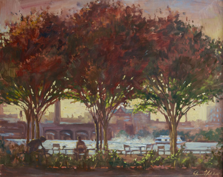W-NITC-Three Trees In Red-16x20-oil on panel-2010-SOLD.jpg