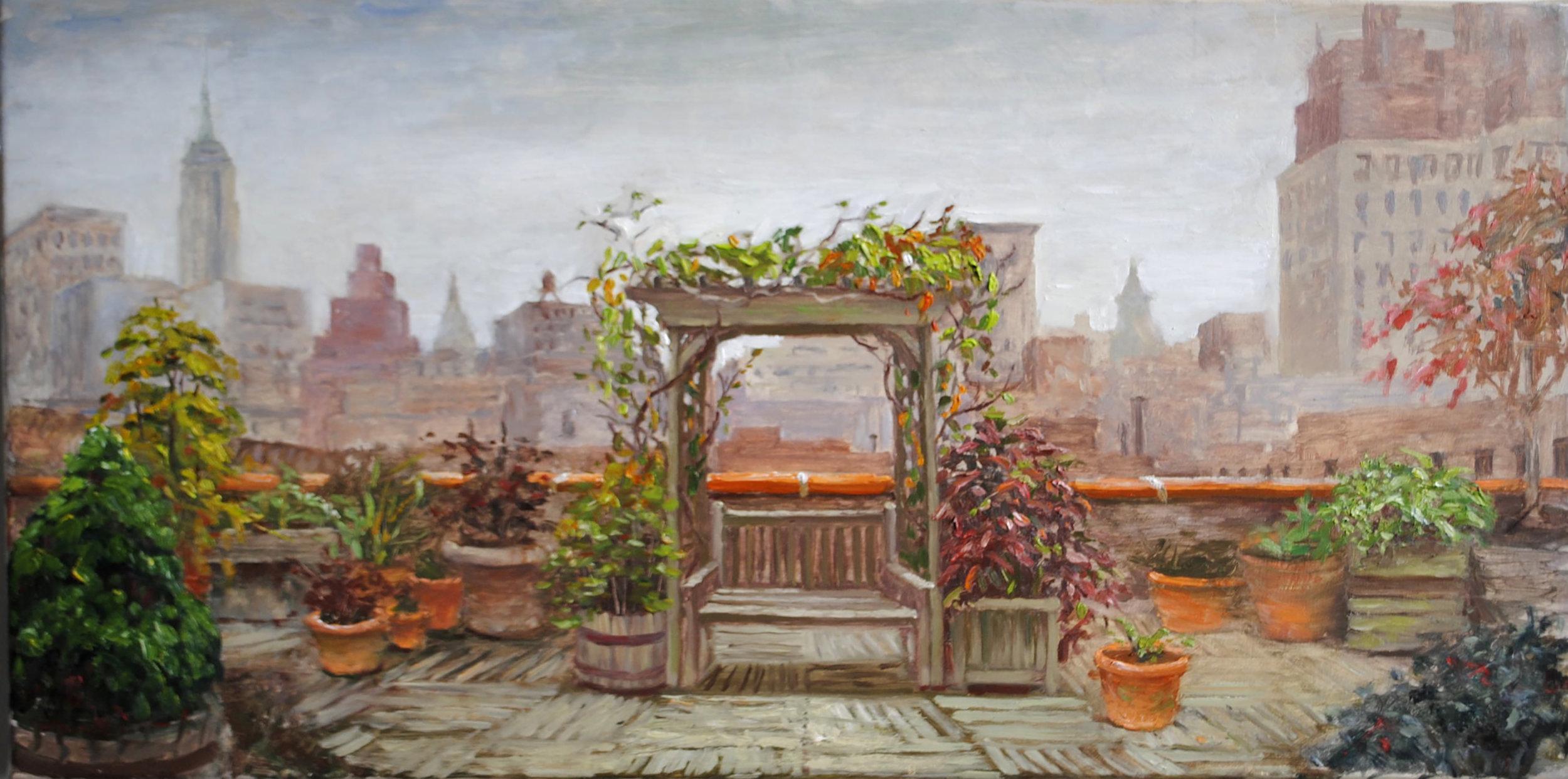 W-NITC-Rooftop Garden-Dalrymple-14x30-oil on canvas-2011-SOLD.jpg