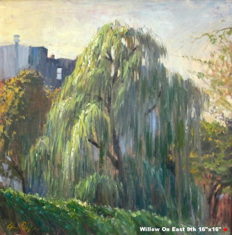 19. Willow On East 9th Street, 20 x 20, oil on canvas, 2011 copy 2.jpg