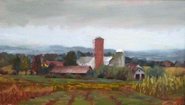 7. Farm On Paris Hill, 8 x 16, oil on panel.JPG