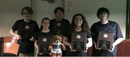 2018 Youth Feb Match 1st Place Team - Youth Feb Challenge Match 2018 1st Place Team from Parkville Lanes of Rusty Potts Jr., Gabby Baker, Thomas Pfarr, Alison Meister, and Riley Stem. Congratulations team!