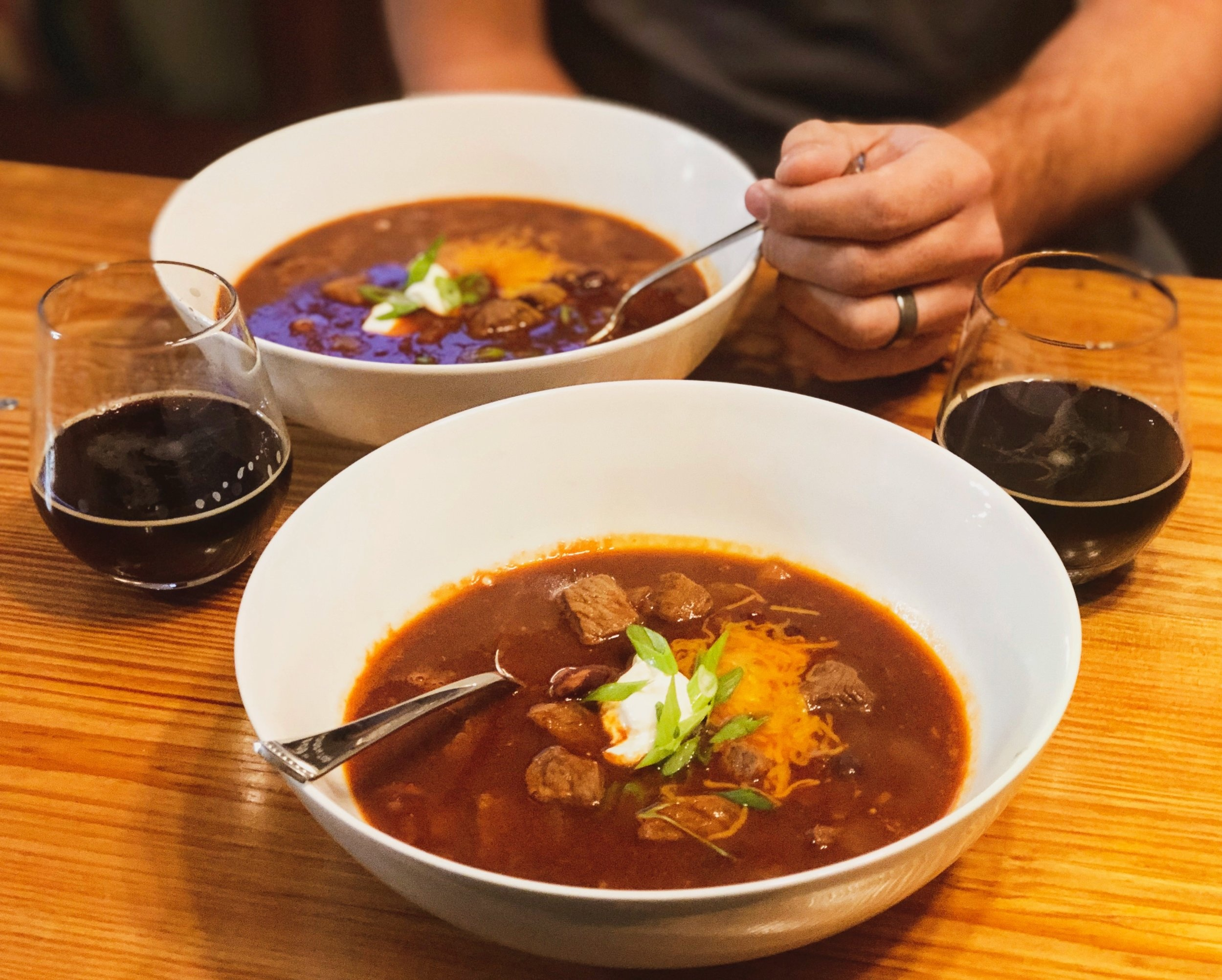 imperial stout beef & bacon chili -