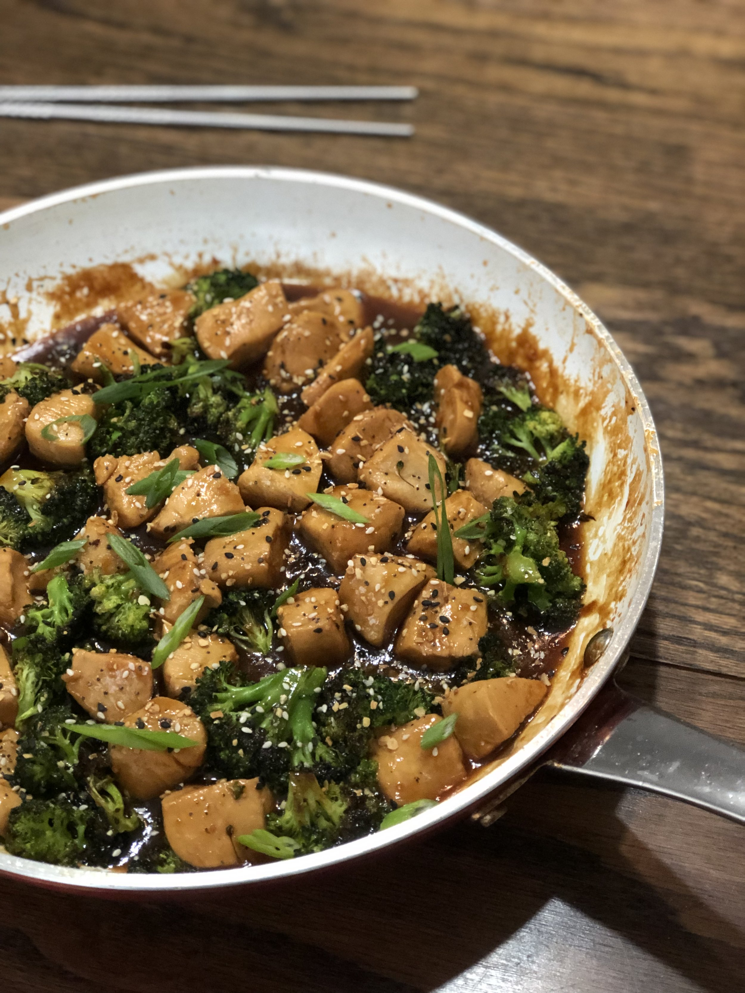 scratch-made chicken teriyaki and broccoli -