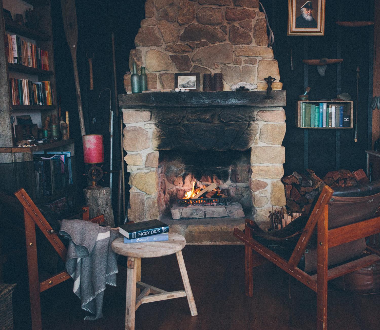 Handmade open fireplace
