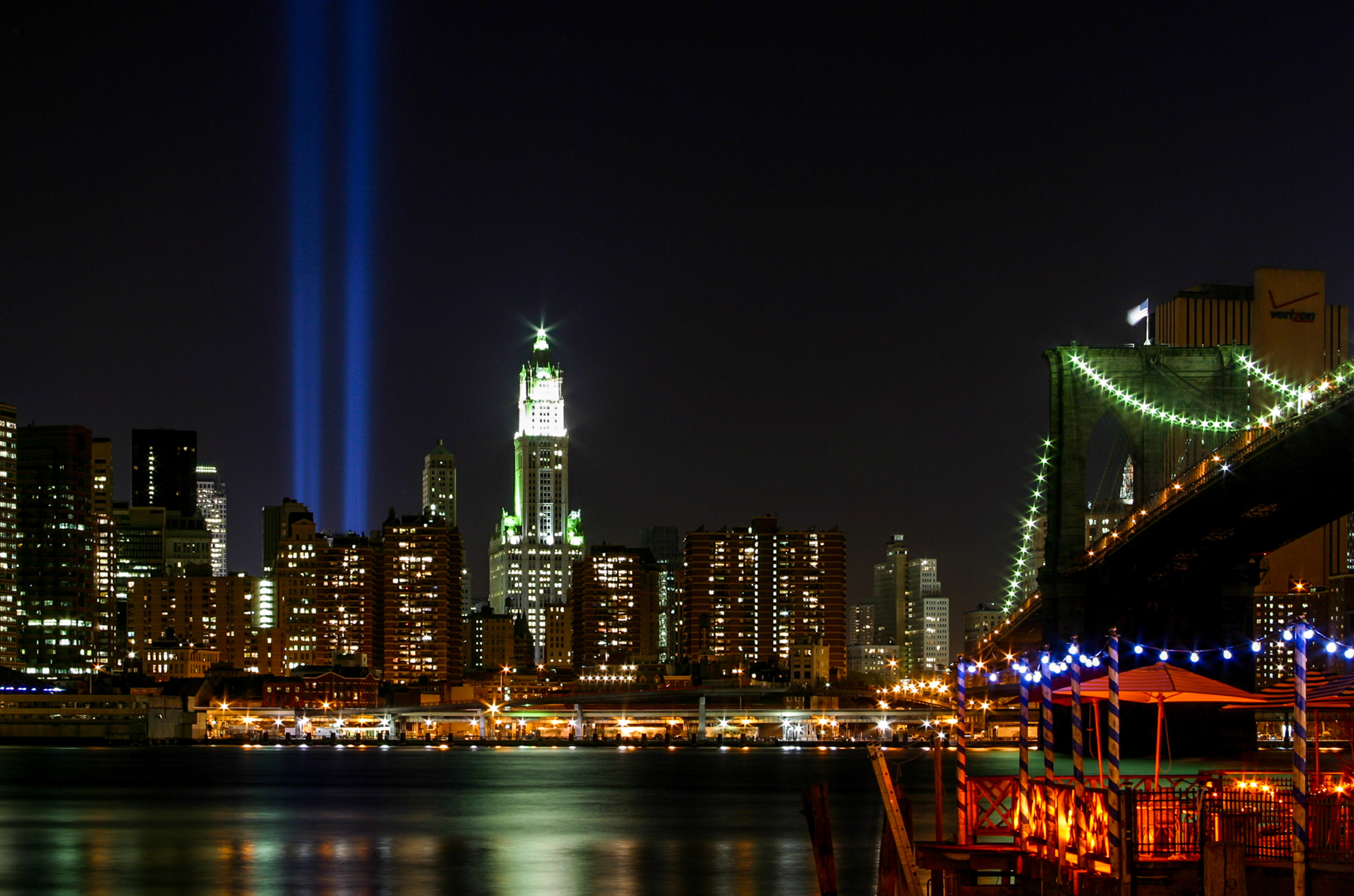 The events of September 11, 2001, will always be ingrained in the memories of New Yorkers. Images depicting the dual blue beams where the Twin Towers once stood still elicit an emotional reaction from most Americans. Ken captured this long-exposure image the first year that NYC began illuminating the location. -