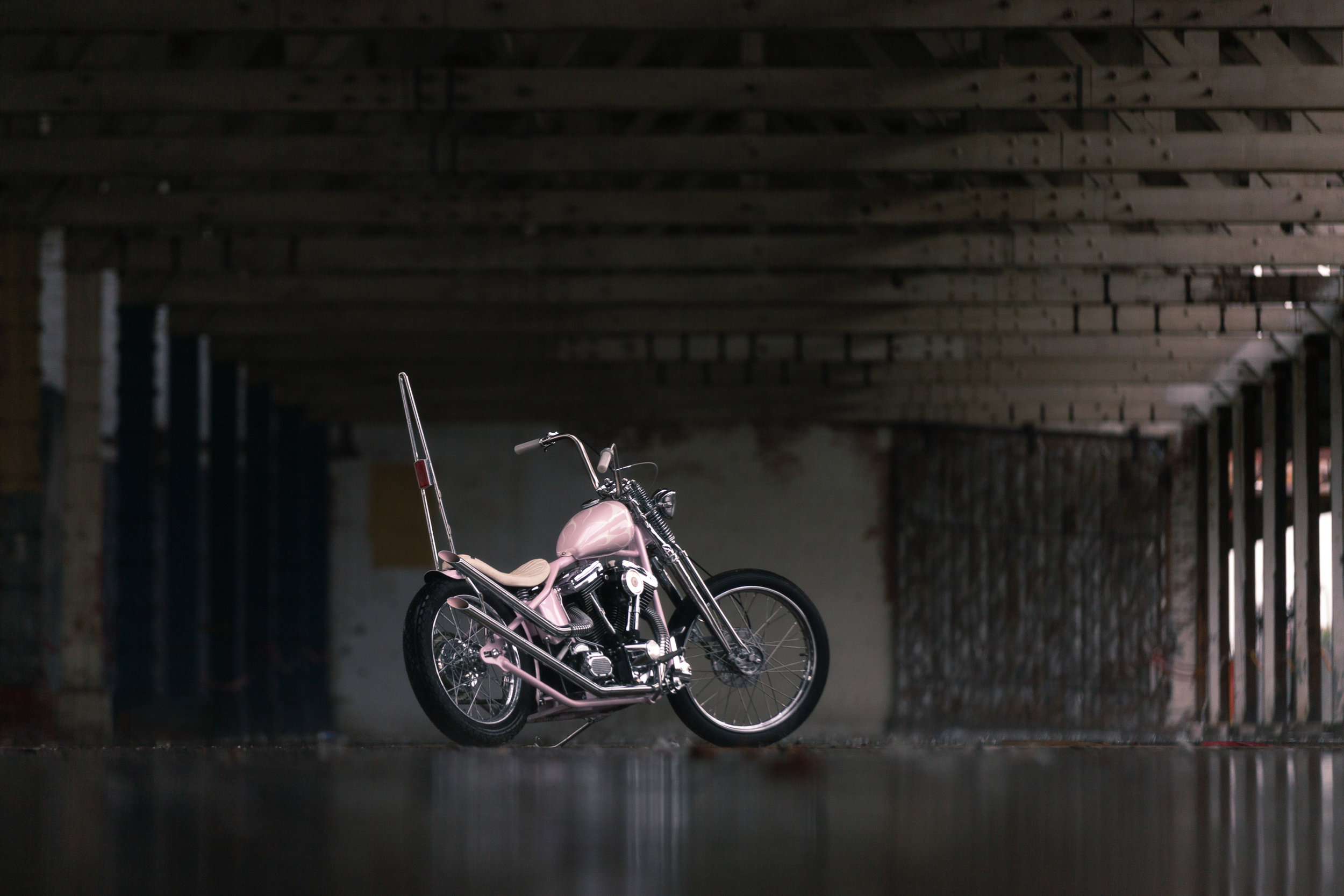 Kable's Pink Evo Chopper  - Click for photo gallery.