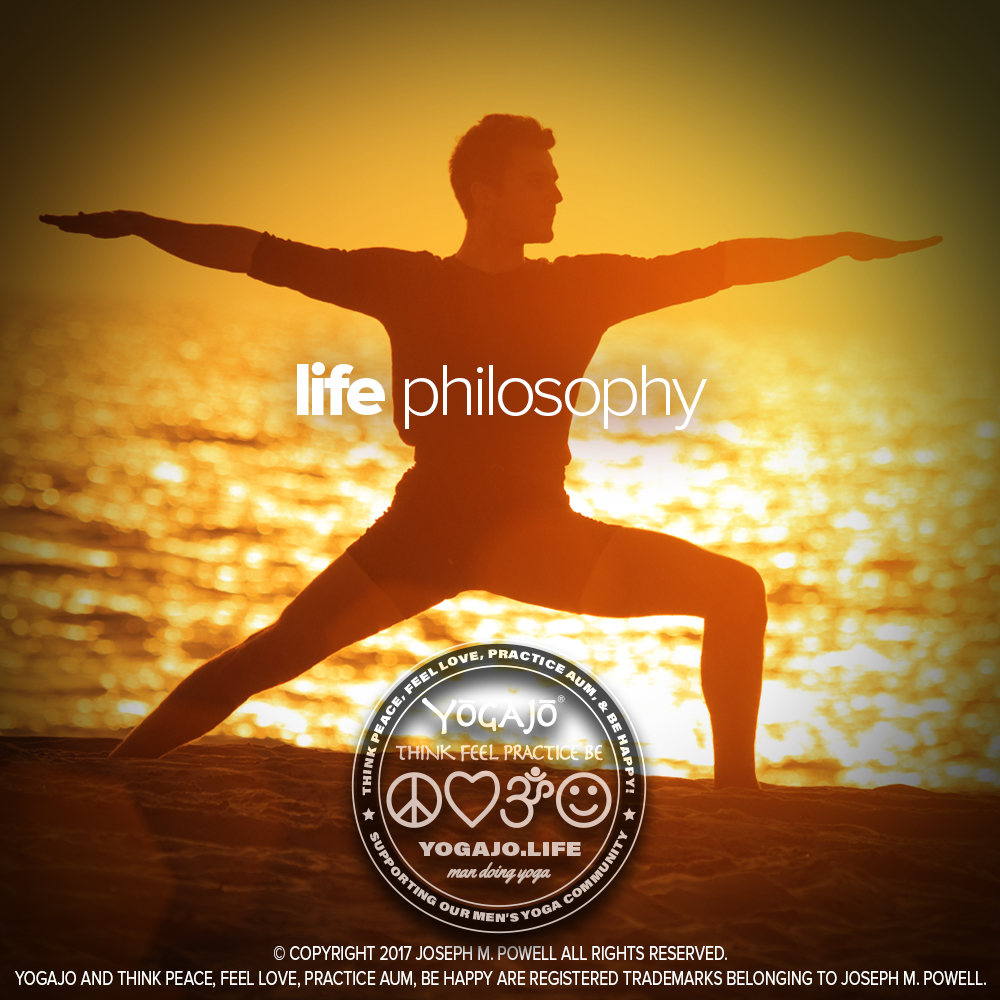 THOUGHT:  I identify with the practical philosophies of Yoga. It encourages you to each day take a few moments and calm the mind and free the heart in quiet meditation. Exercise daily for the body. This discipline is sometimes referred to as a spiritual practice. I guess it can be, but it is a good philosophy of life.