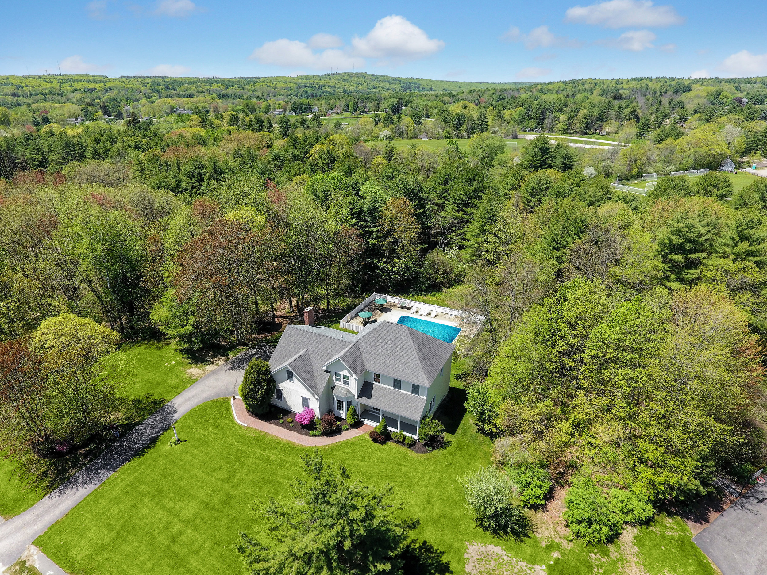 Great home in Falmouth with an amazing backyard.