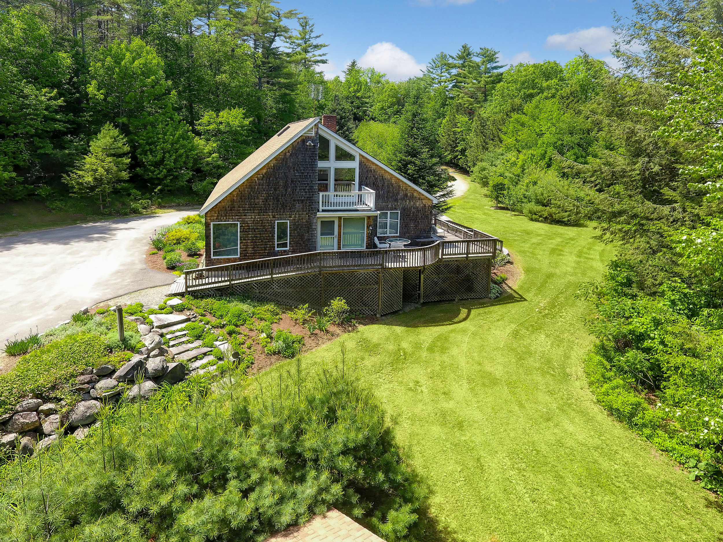 Contemporary Readfield Cape with a great mountain view