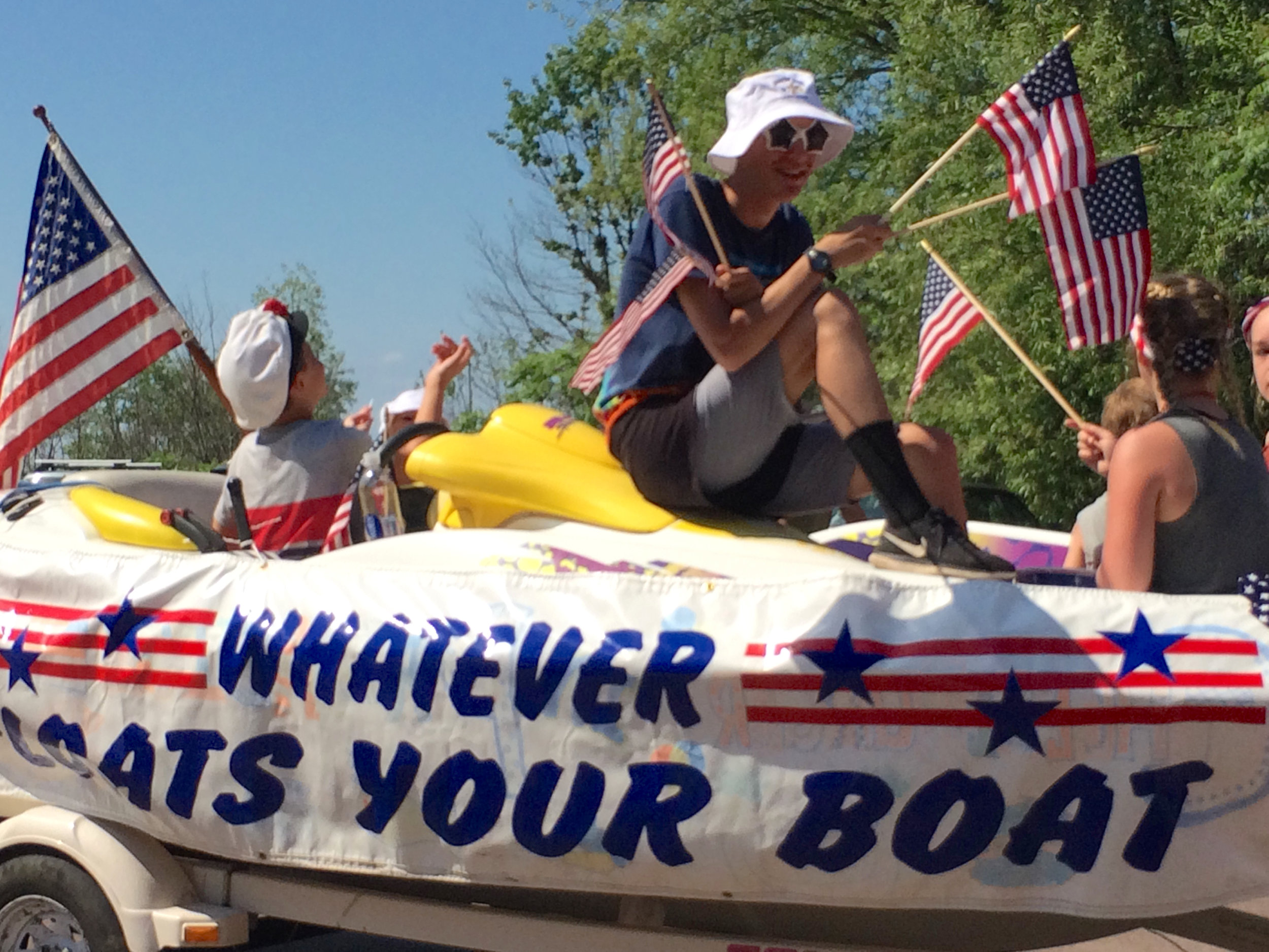 Part of MIYC Parade Entry for 4th of July, 2017