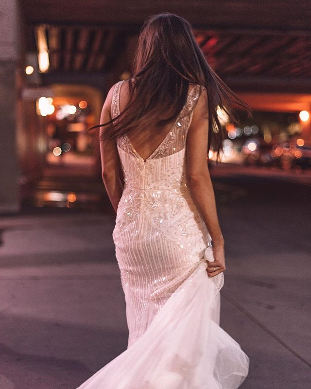 Runaway bride into the city lights ✧ . . . . . #weddingphotographer #travelweddings #weddings #muse #hellomay #love #styled #brisbanewedding #photographer
