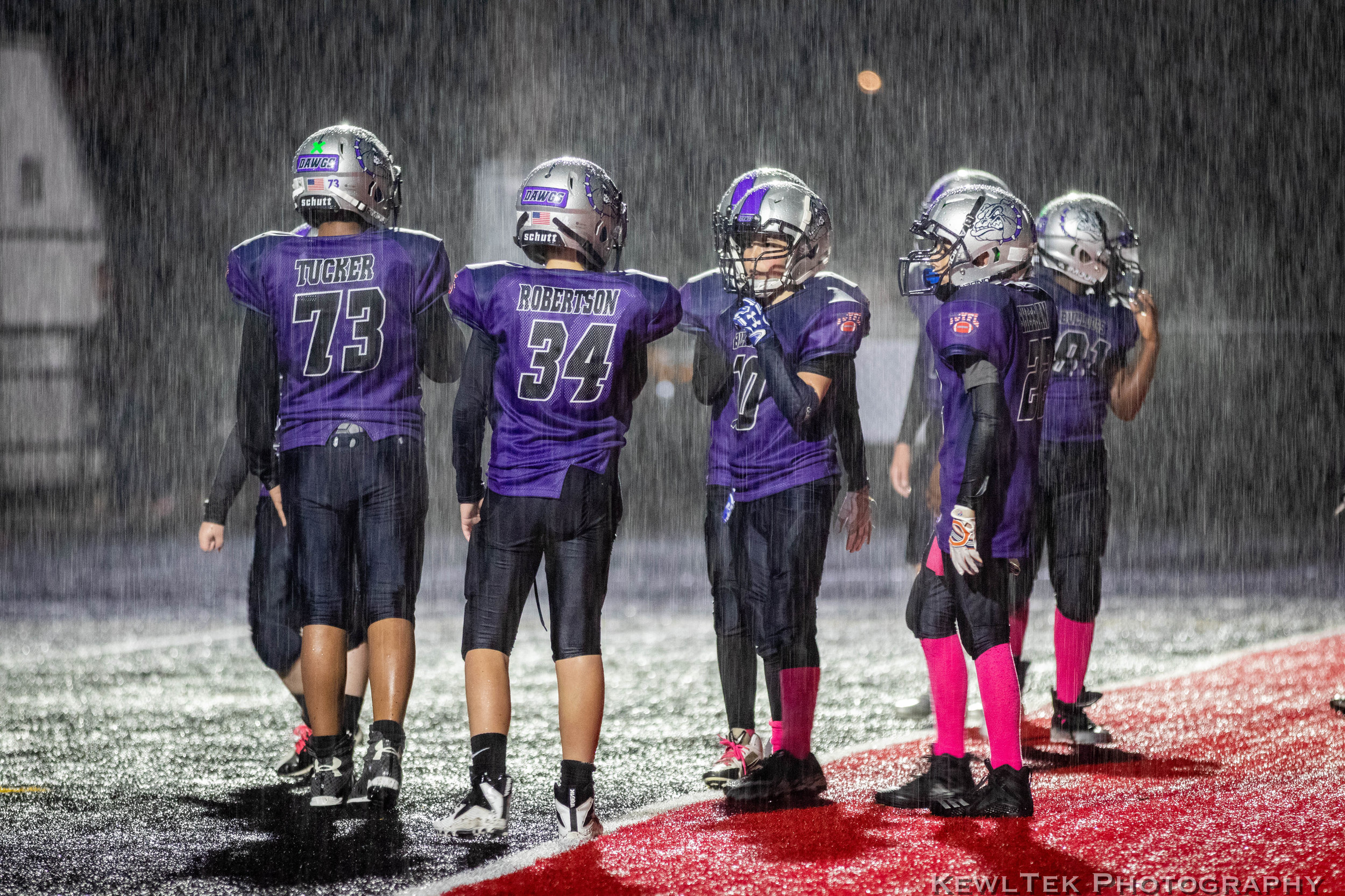 Kids Sports in a Downpour