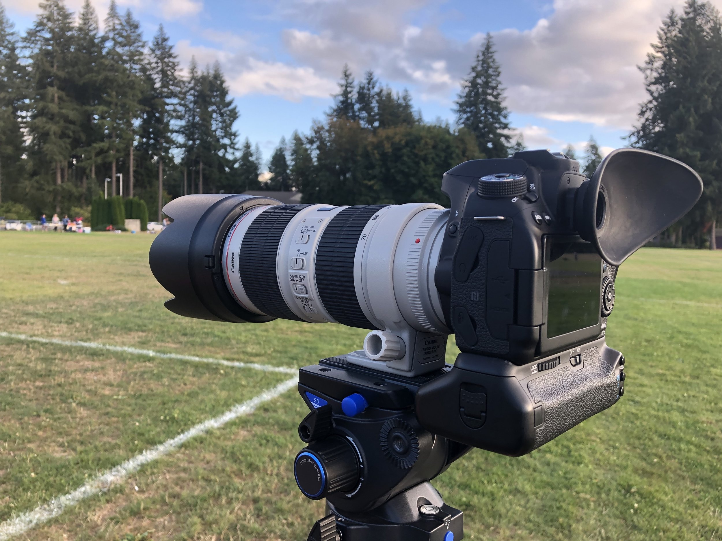 My camera, on my Benro tripod