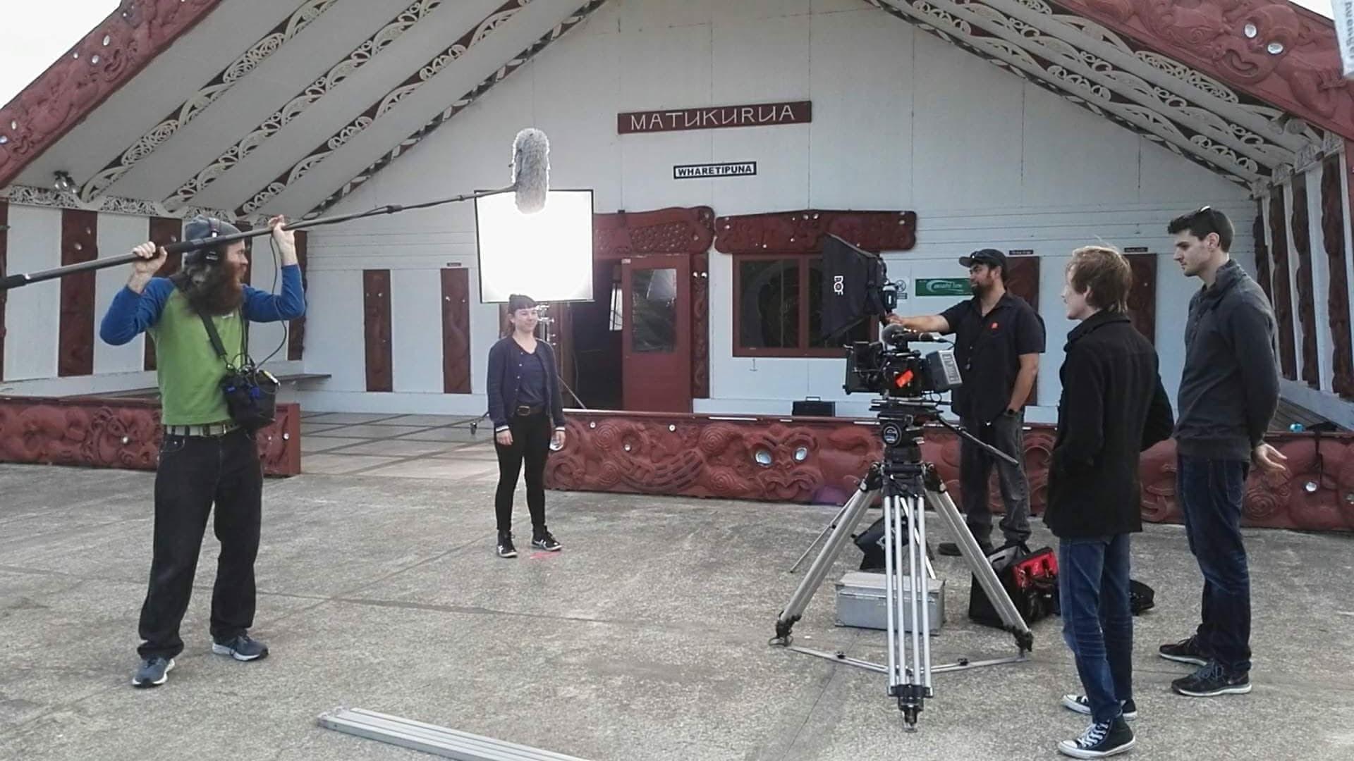 "On site filming ""Te Reo"" for RockEnrol."