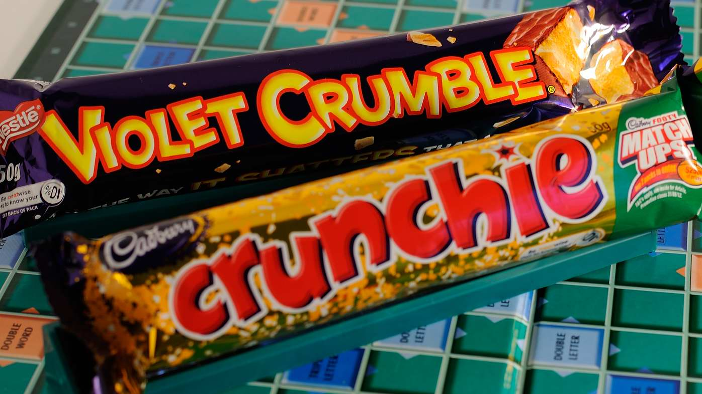 Violet Crumble and Crunchie