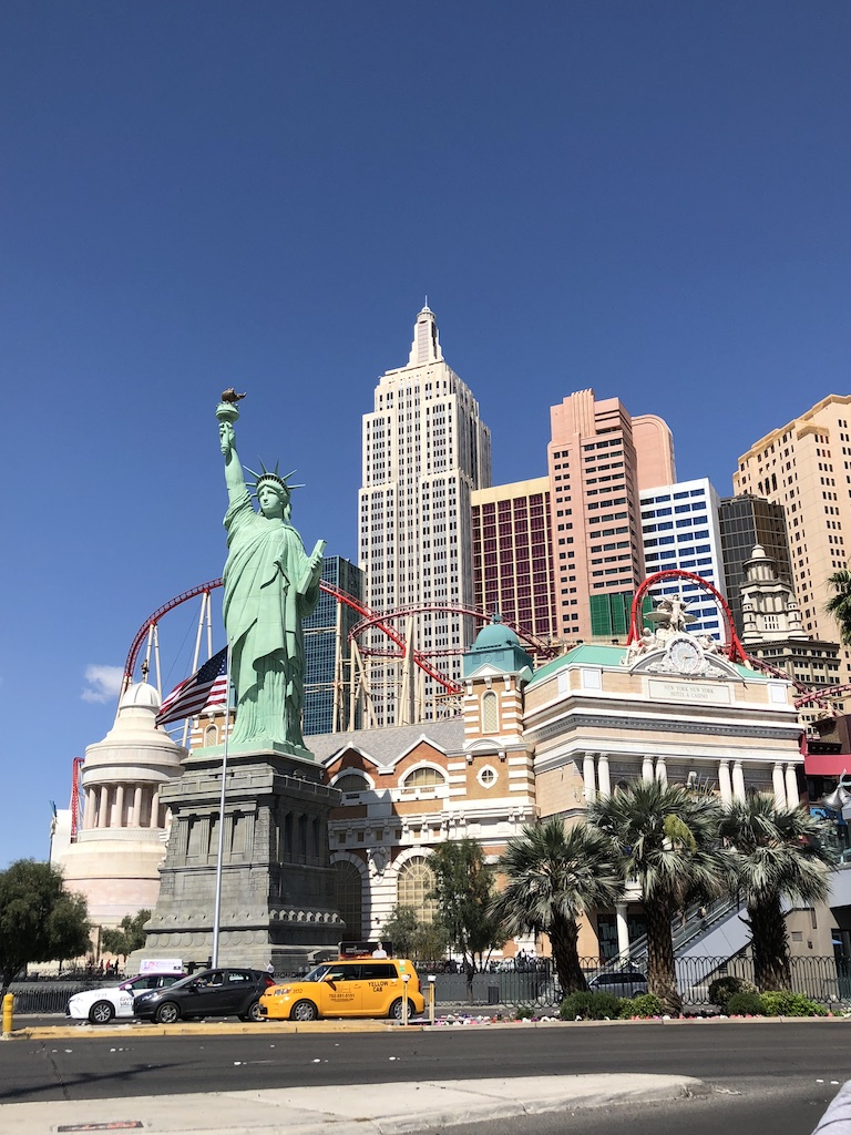 Las Vegas - notice the dramatic cloudy sky on the left.