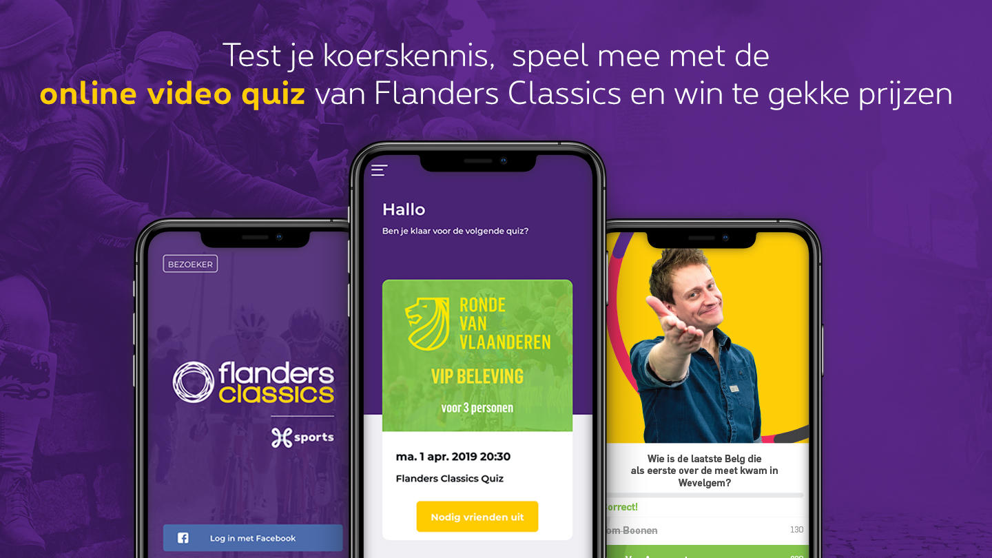 Flanders Classics Live Video Quiz powered by Zender