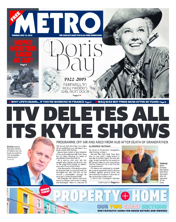The Metro 14th May 2019 Cover.jpg