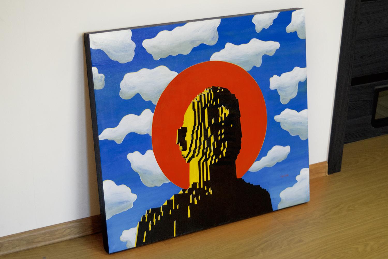 Yod_Convinced, photo, 2018 canvas, tempera, gouache 80 x 70 cm. N043_2.jpg