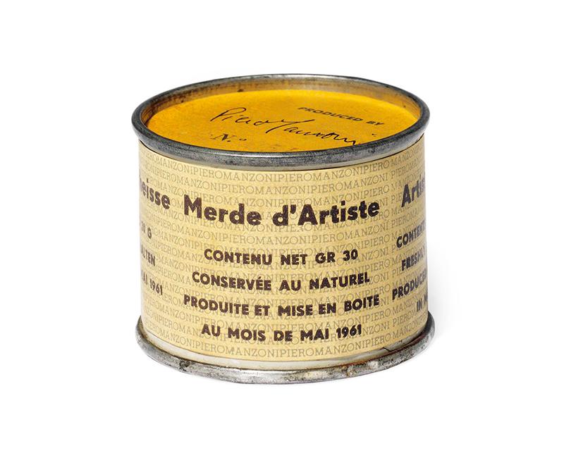 'Merda d'artista [Artist's Shit]' by the artist Piero Manzoni, 1961