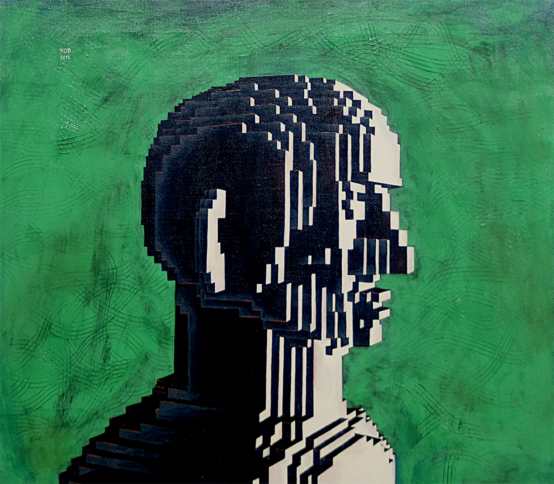 Yod_Looking man, 2018 canvas, tempera, gouache 70 x 60 cm_N40_1500 px.jpg