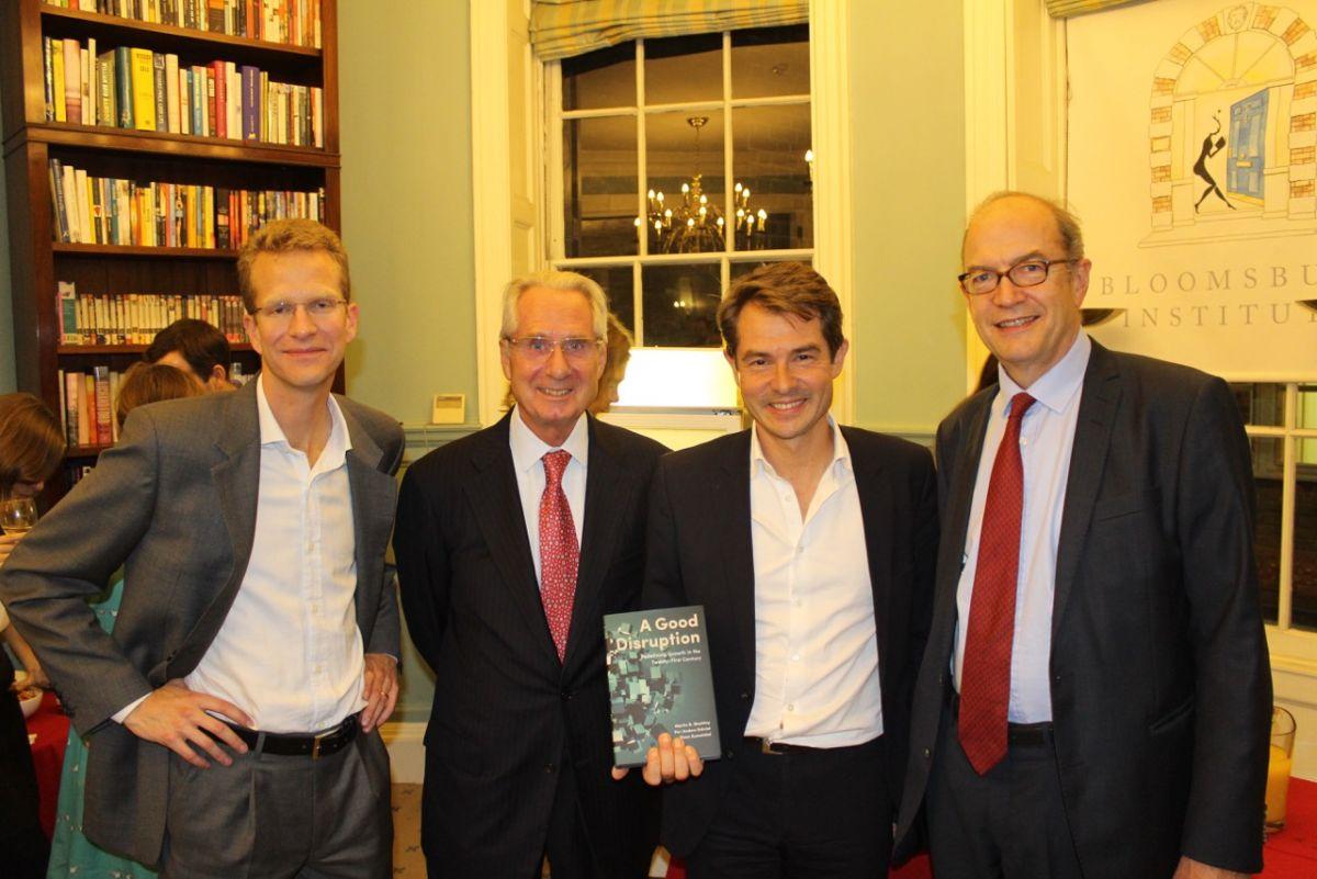 from left to right: Per-Anders Enkvist, Dr. Klaus Zumwinkel, Dr. Martin Stuchtey