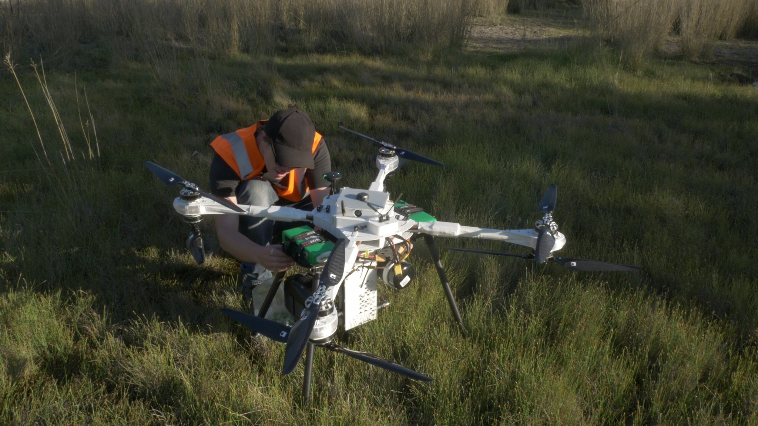 BCE engineer Spencer working on precision-planting drone in Myanmar