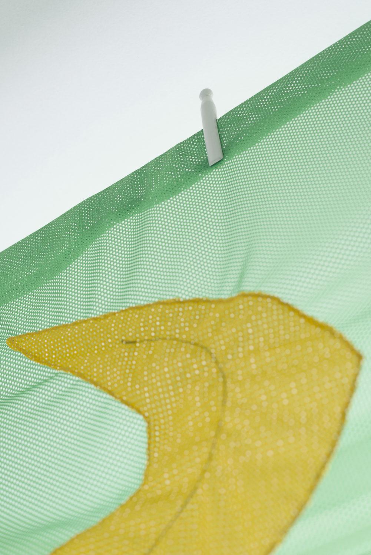 Detail of o, 2017  airtex mesh  222 x 155 cm