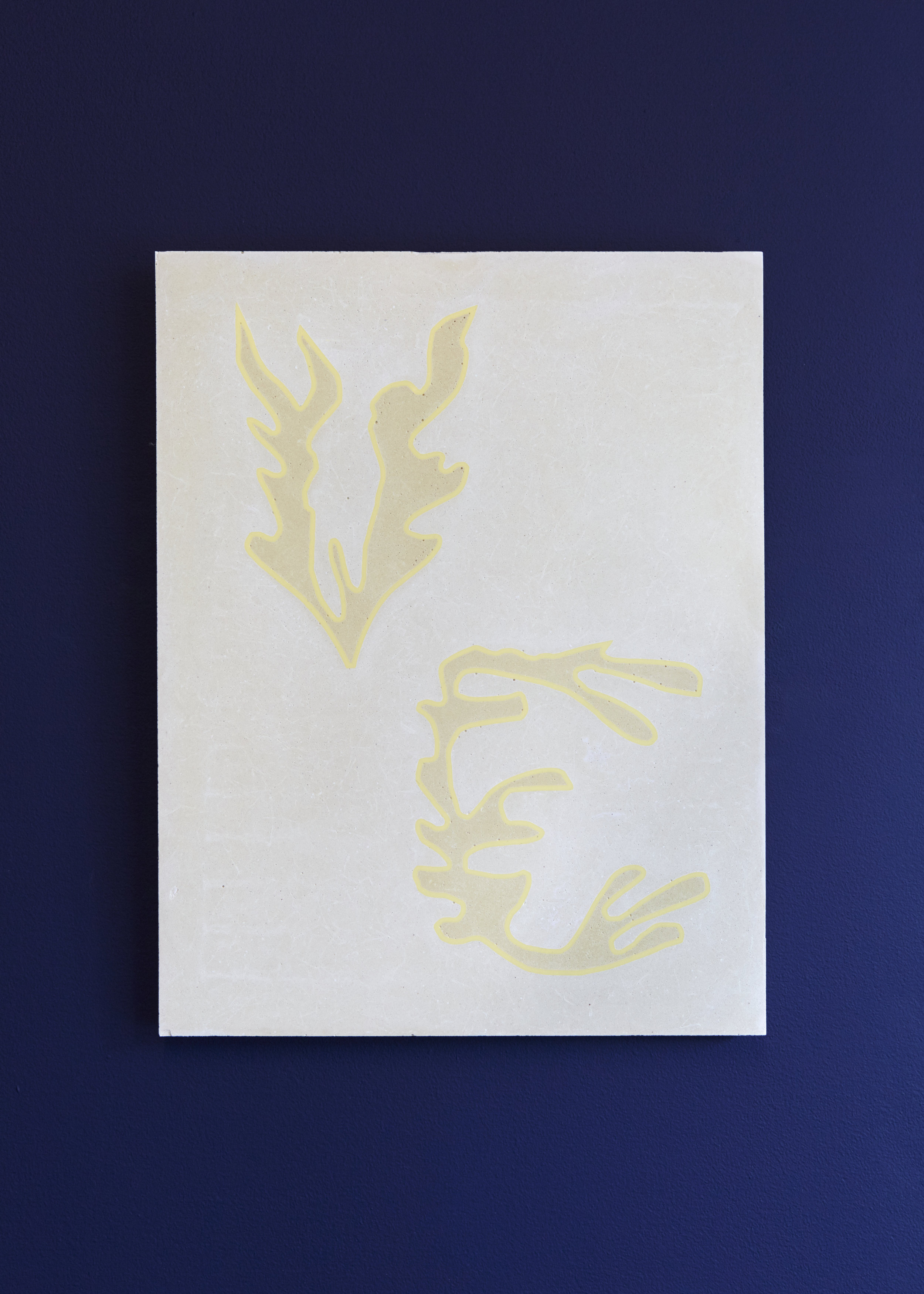 Flowers (after Matisse) I , 2019 Cast concrete panel with inlaid acrylic 44 x 34 x 2 cm
