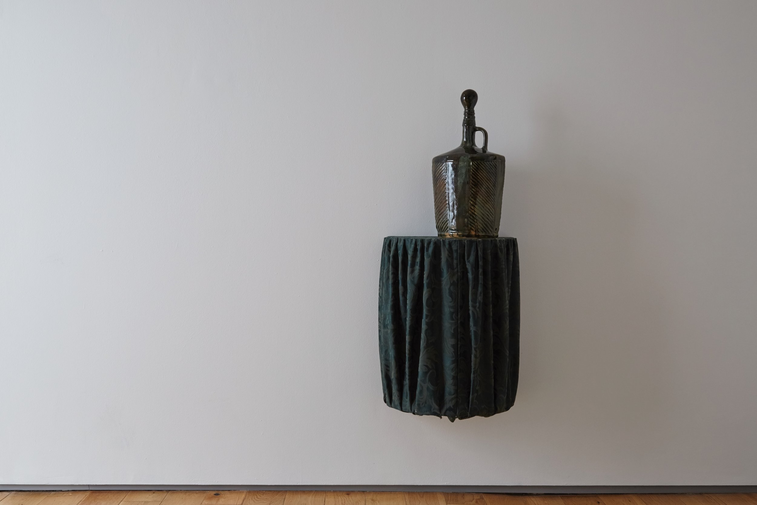 Strange Comfort (lamp),  2019 Stoneware ceramic and glaze 48 x 24 x 19 cm