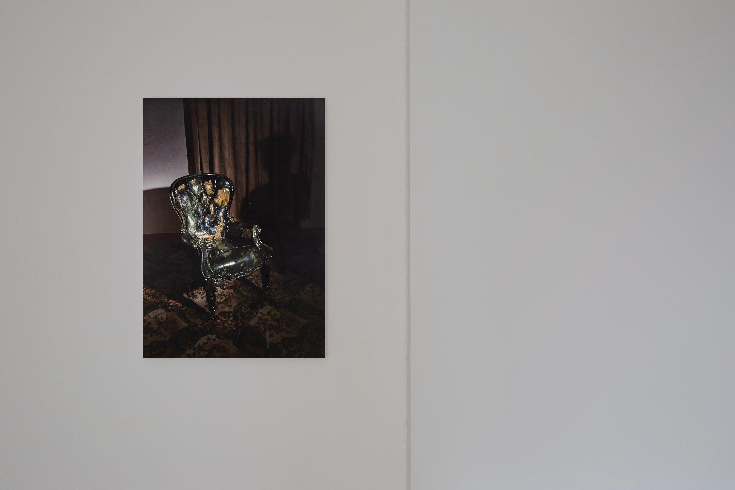 Visitor,  2019 Fujiflex print on aluminium dibond 36 x 50 cm