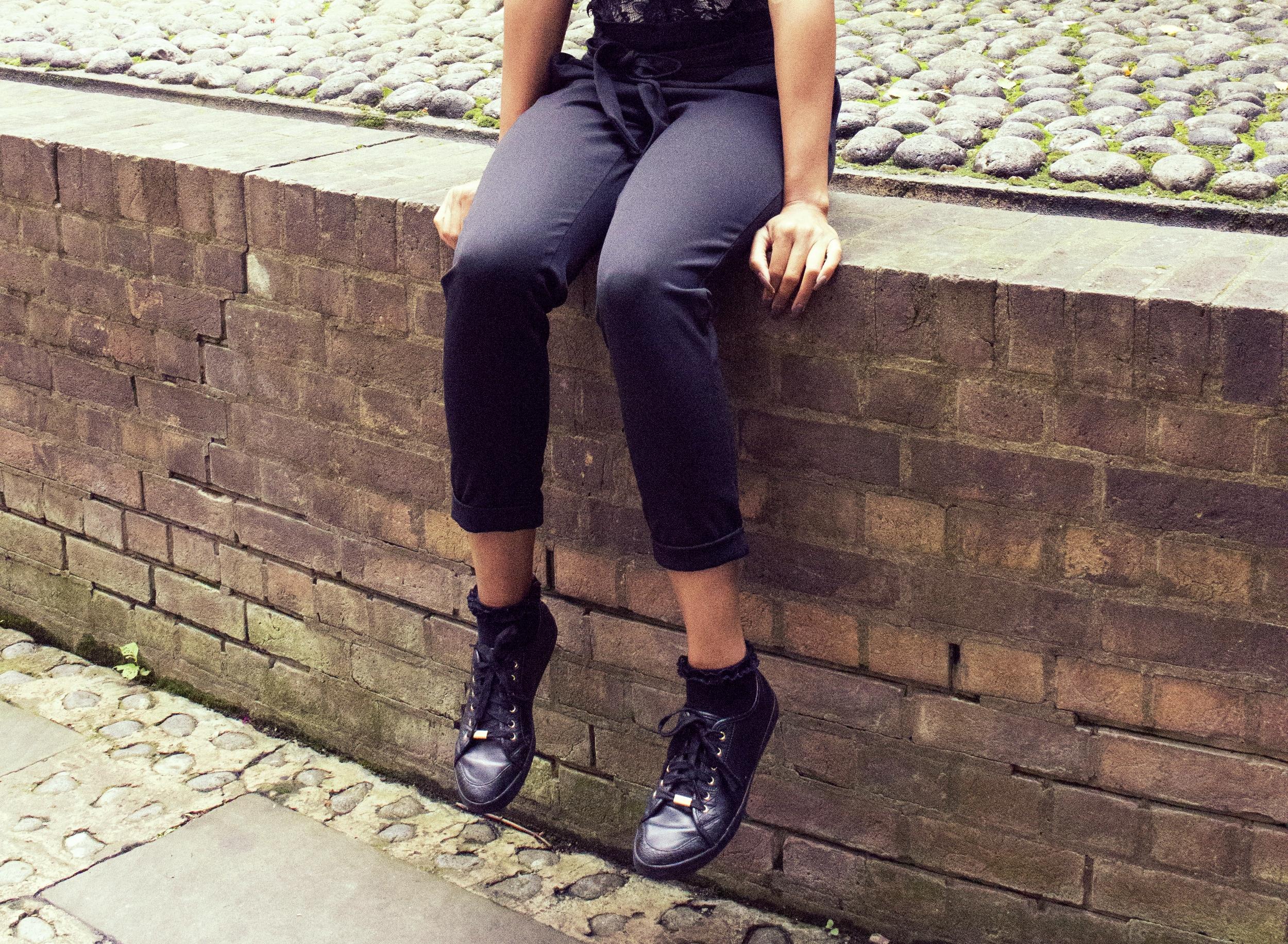 White polo neck black bodysuit black trousers black trainers for Autumn Winter 8.jpg