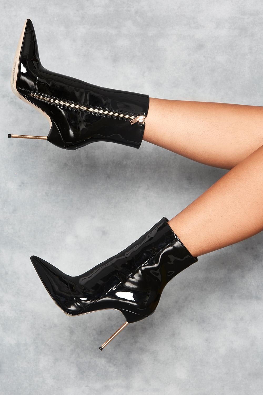 Mistress Rocks Pegasus Black Mirror Vegan Leather Stiletto Ankle Boots.jpg