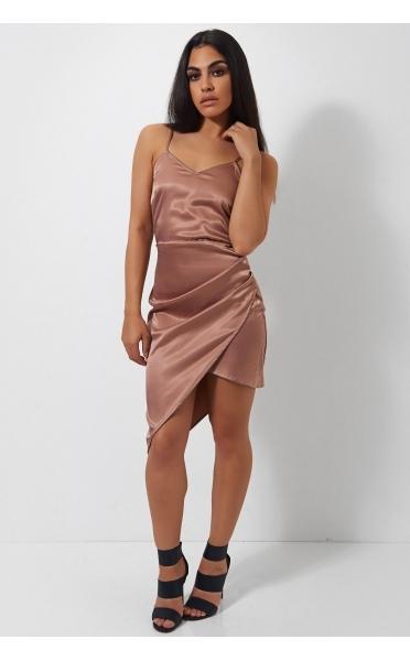 The Fashion Bible Kia Nude Asymetric Satin Dress.jpg