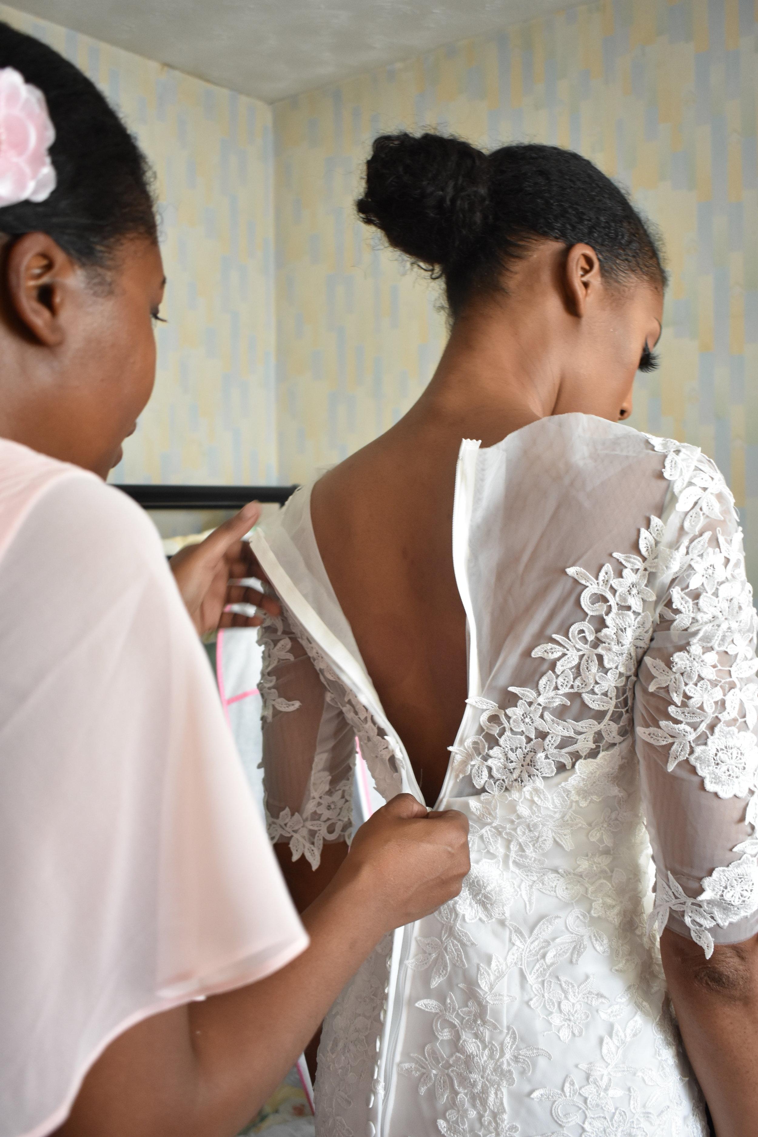 Getting Dressed Wedding Day