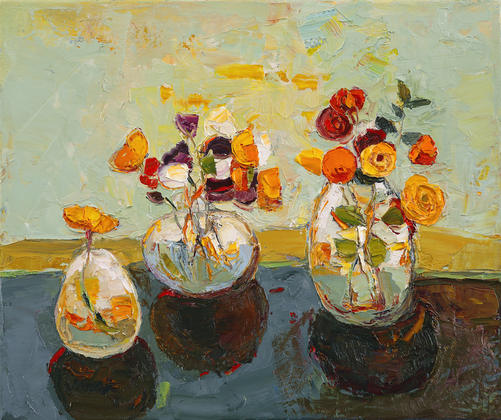 Title: Three of a Kind Size: 10 x 12 inches Medium: Oil on Canvas SOLD