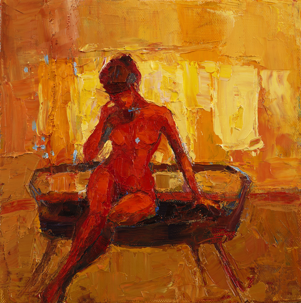 Title: Little Break Size: 8 x 8 inches Medium: Oil on Canvas Price: £900
