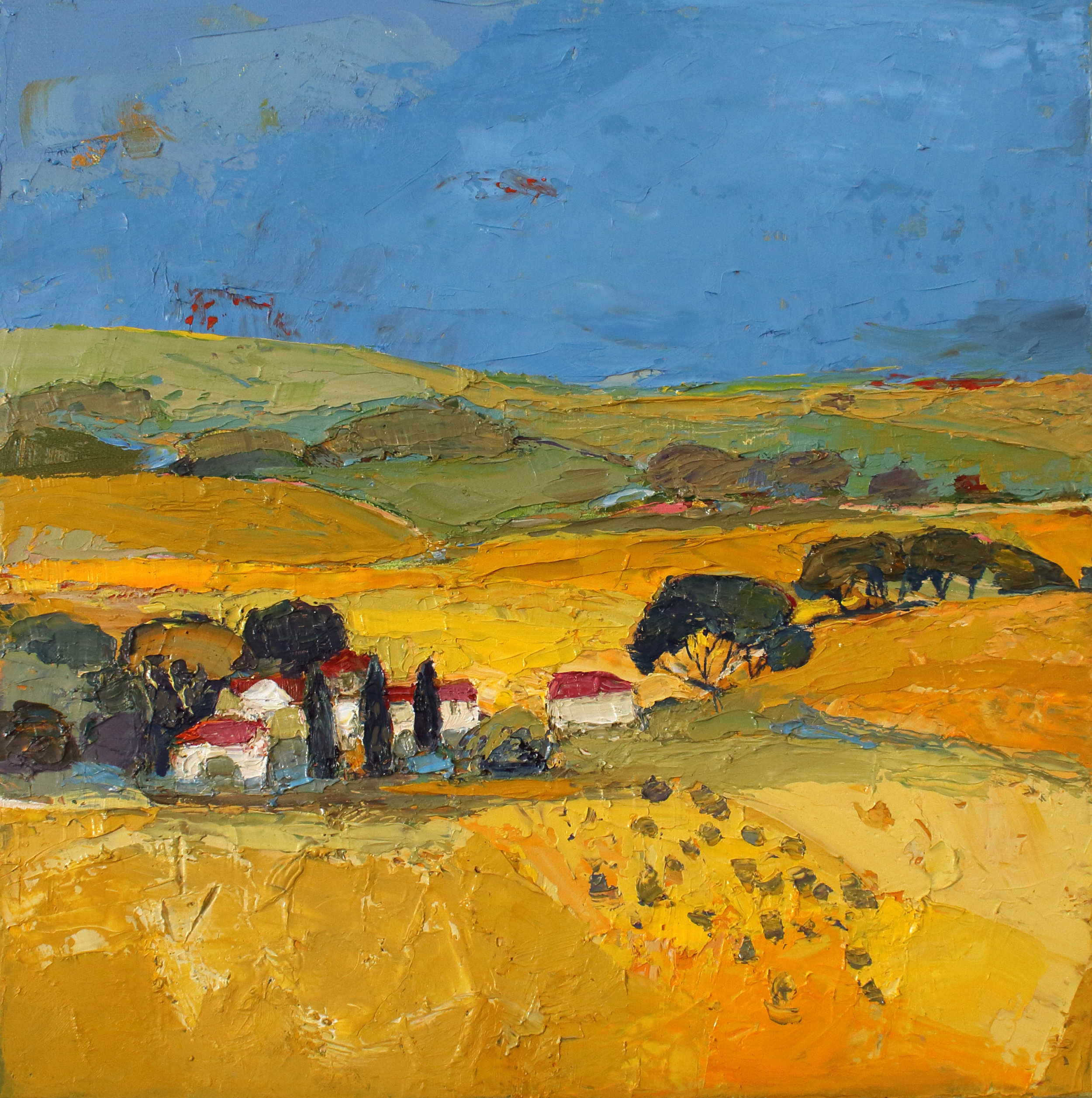 Title: Hay and Haze Size: 12 x 12 inches Medium: Oil on Canvas Price: £1700