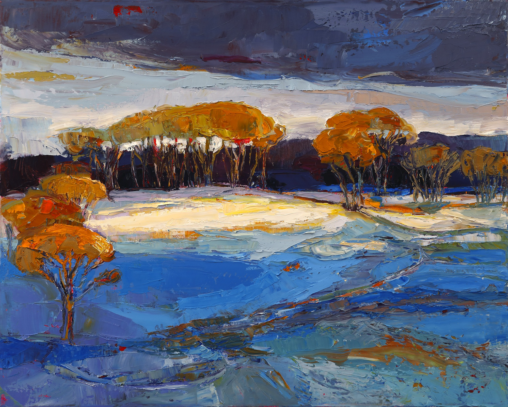 Title: Fair Frost Size: 16 x 20 inches Medium: Oil on Canvas Price: £1750