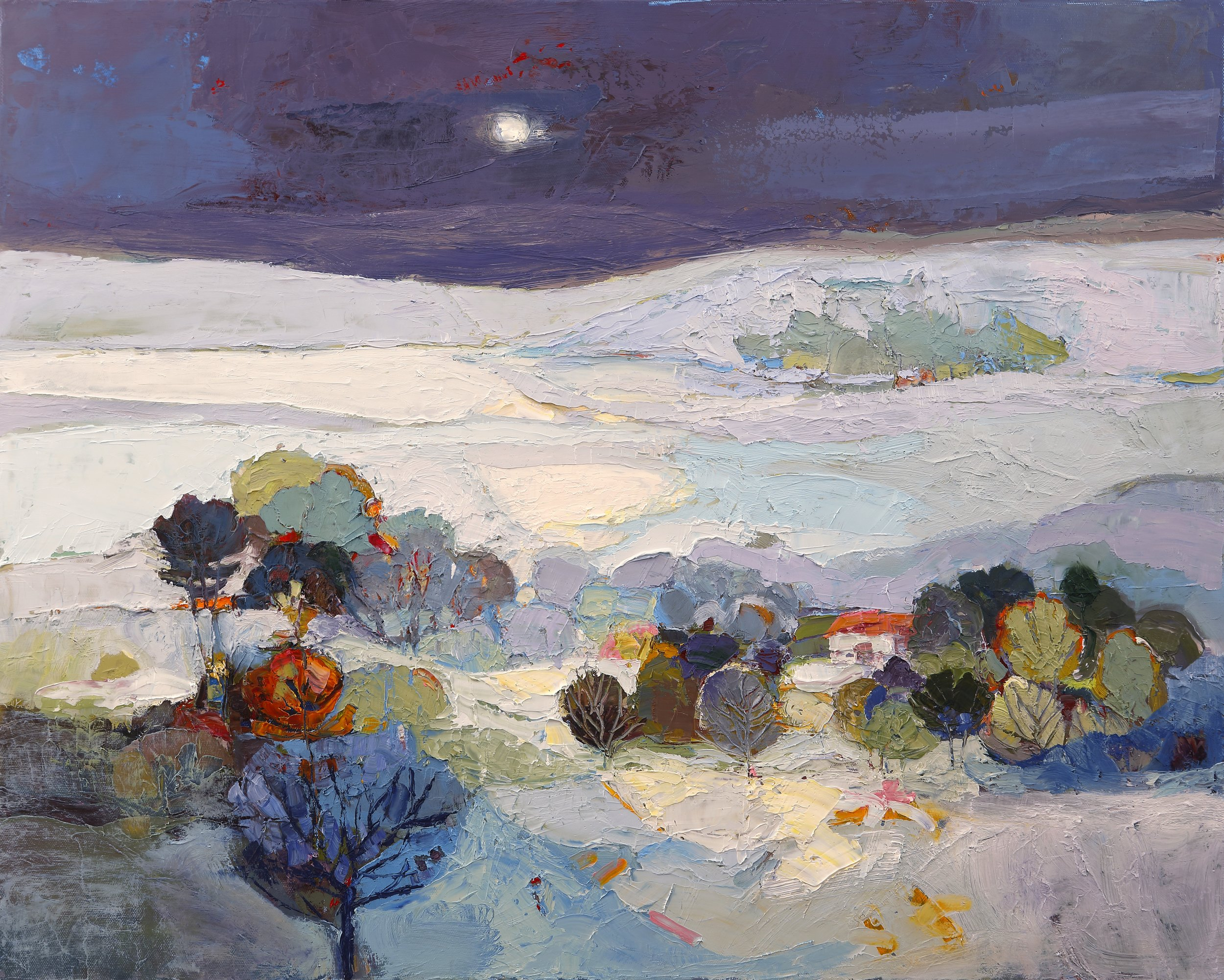 Title: Light on the Land Size: 24 x 30 inches Medium: Oil on Canvas Price: £4700
