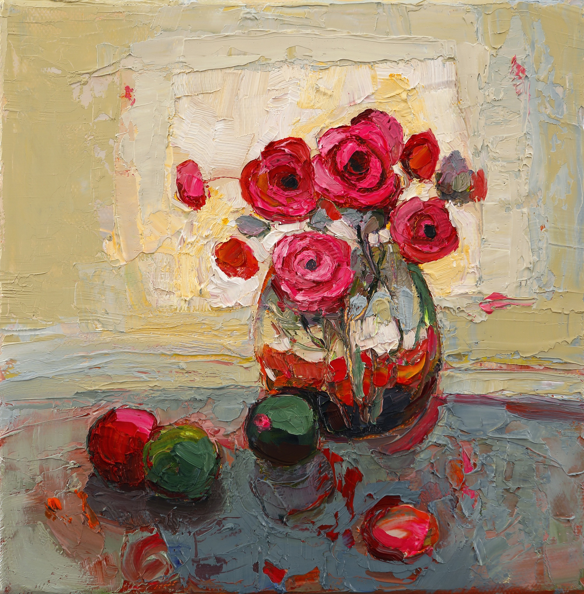 Title: Rosy Glow Size: 8 x 8 inches Medium: Oil on Canvas Price: £900