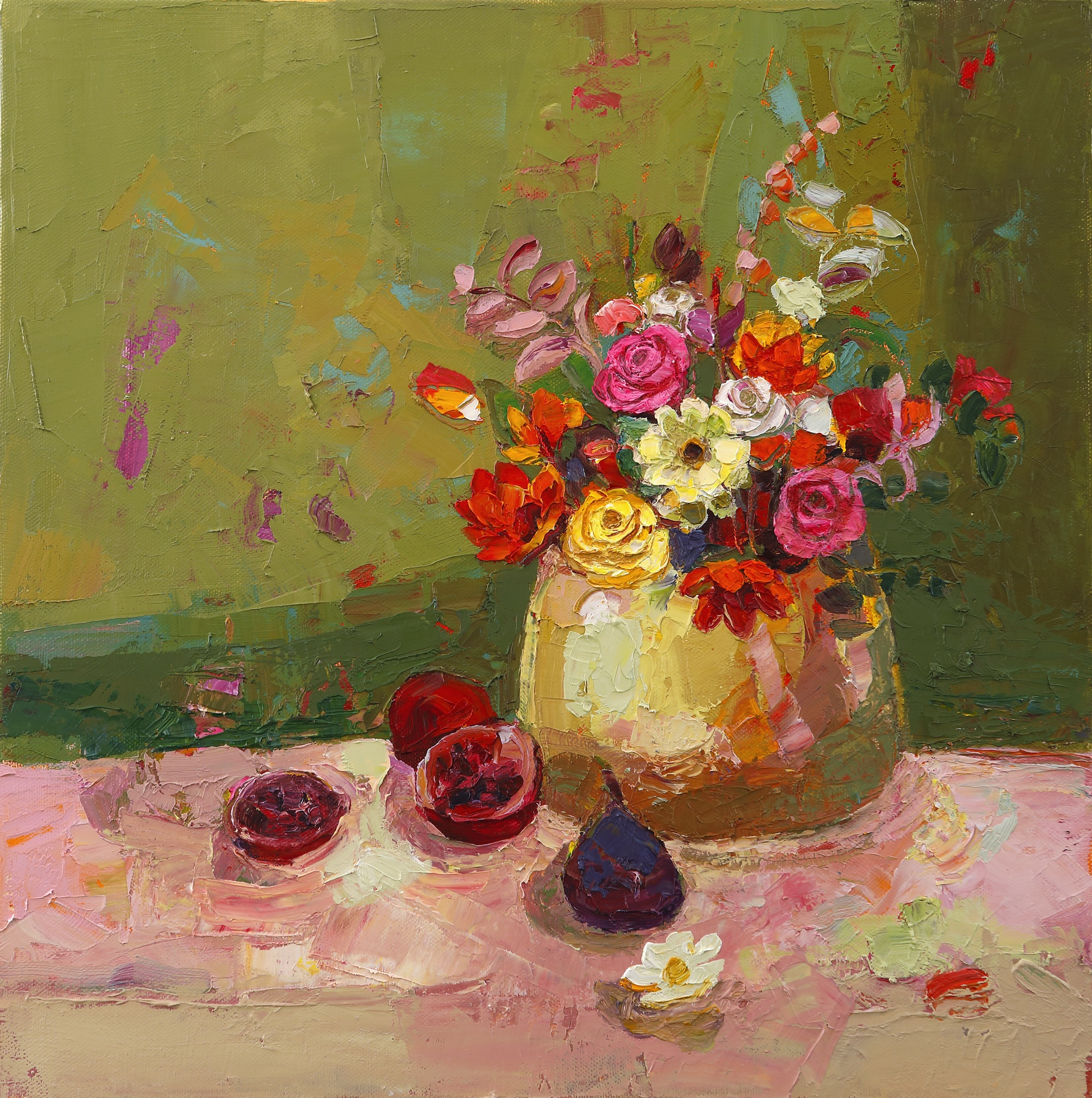 Title: Unruly Bunch Size: 16 x 16 inches Medium: Oil on Canvas SOLD